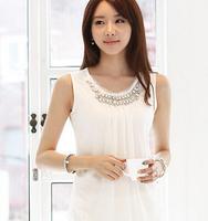New white diamond lace sleeveless top