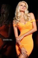 2014 New Arrival Ladies HL Bandage Dress Orange Colour Sexy Mini Club Night Dress Celebrity Dress High Quality Wholesale