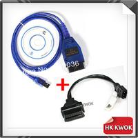 2014  For Au-di 2x2 2+2 VAG-COM Vag Com 409.1 KKL OBD 2 USB Cable Scanner Scan Tool Interface For Audi VW Skoda Free Ship