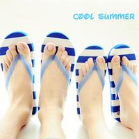 Summer stripe luminous flip slippers slip-resistant platform flip flops beach T-002