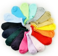 Free Shipping-20pair/lot Women Socks, Fluorescence Cotton Sock, Candy Color Fashion Ankle Boat Short Socks, Many Colors