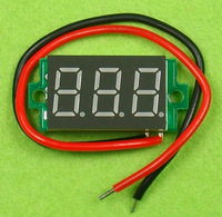 Free shipping>(D3A2) STM8S003 master with reverse polarity protection \ 3.2 ~ 30V ( two-wire ) Red voltmeter