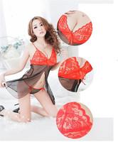 2PCS/LOT 2014 New Hot Sexy Sleepwear Sexy Lingerie Dress Women's Lingerie Nightwear Lace Net Ladies Free Shipping