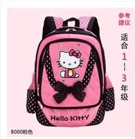 2014 children hello kitty school bags cute girl backpack mochila infantil korea 2style kids travel bags hiking bags Freeshipping