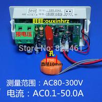 Free shipping>Dual display OX85-40-AV LCD Voltage Meter AC voltmeter ammeter digital meter (D3B3