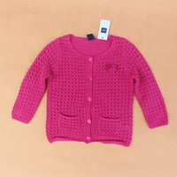 3 colors 2014 new Autumn - Spring kids cardigan sweater Knitting children sweater children outerwear girls cardigan sweater