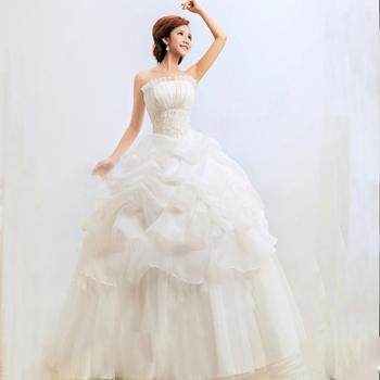 Свадебное платье свадебное завернутый груди тонкая талия слоистых Кружева шифоновое длинное платье 5Sz