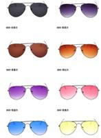 9 Colors Multi-color Lenses Alloy Oval Pilot Men's Sunglasses Women's Fashion Eyewear 2014 New Style 3026