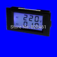 Free shipping>100A dual display digital voltmeter digital AC current meter ( black shell )