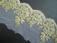 15yard 16.5cm Gold Lace Trim Bridal Veil Trim Embroidery Applique Lace Wedding Dress Accessories Sewing Supplies 2014 AC0255