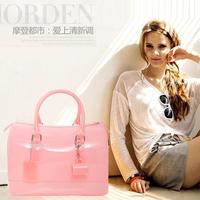 Free shipping New 2014 designer fashion high quality summer furly candy jelly women handbags