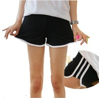 Trend Knitting 2014 Summer New fashion Women's Sports Shorts Pure cotton comfortable stripe Casual Hot pants 5 Colors