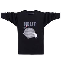 Camisetas Promotion Hot Sale Men Sports T-shirt Plus Size O-neck Long-sleeve Male 2014 Hot-selling 100% Loose Cotton T Shirt