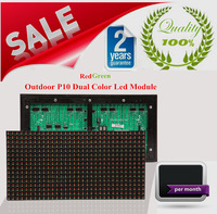 2014 Hot Sales Outdoor P10 dual color (red and green ) waterproof LED display Advertising module