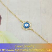 FISE00688 18K golden plated The evil eye bracelet
