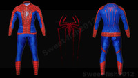 2014 NEW  Super Slim Fit Red The Amazing Spider-man Long Sleeve Bicycle Cycling Kits Wear Jerseys Long Sleeve + Pants M/L/XL/XXL