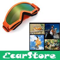 Motorcycle Motocross Ski Snowboard Eye Protection Glasses Goggle Orange