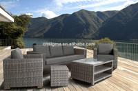 Exclusive aluminum frame poly rattan outdoor sofa designs