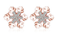 Free Shipping 18K Gold Plated Austrian Crystal Snowflake Earrings,Fashion Rhinestone Earrings,Wholesale Fashion Jewelry,MG242