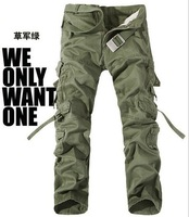 New 2015 Men's Tactical Pants Military Camping Loose Men Pants Outdoor Hiking Trousers Camouflage Cargo Trousers Size30-40 10080