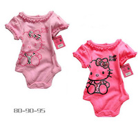 baby girl's cartoon one-pieces baby summer clothing children cotton animal bodysuits jumpsuits 3pcs/lot free shipping