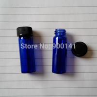 Cobalt blue 15*45MM 4ml glass vial with screw plastic cap, 1 dram glass vials, glass bottles, 144pcs