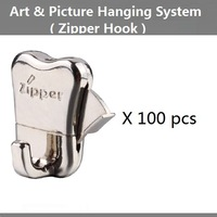 Free shipping,Zipper hooks,art & picture hanging systems parts,art display systems ,wall mounted rail tracks, hanger,Gallery use