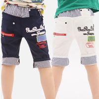 Free shipping Kids boy pants 2014 summer new Korean wave leisure fifth boy pants [ 4-8 years old ] children kids pants