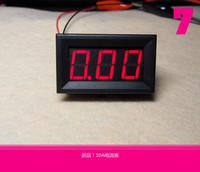 Free shipping>(D3A2) digital ammeter (0-10A) ammeter head , powered 4-30V digital ammeter red