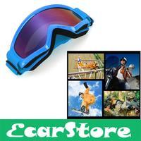 Motorcycle Motocross Helmet Ski Snowboard Eye Protection Glasses Goggle Blue