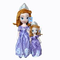 "Free Shpping Sofia the First Princess Sofia Doll Plush toys Stuffed soft toys/dolls for girls 18"""