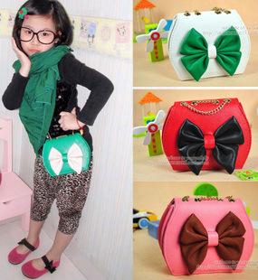 children's cartoon handbag, girl's nice bag minnie design candy colour freeshipping(China (Mainland))