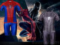 2014 NEW LOT 2PCS Slim Fit Red+Black The Amazing Venom Spider-man  Bicycle Cycling Kits Jerseys Short Suit + Bib Pant M/L/XL/XXL