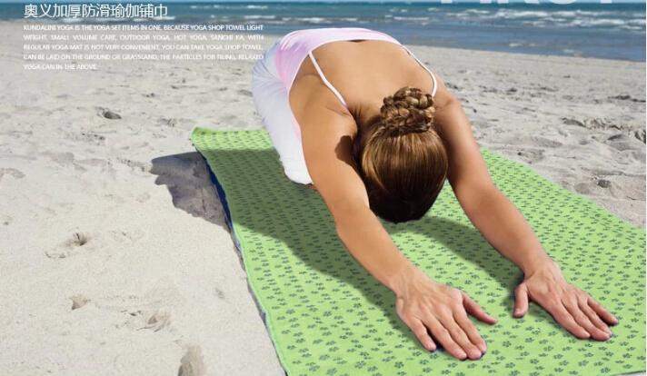 alto grau 180cm yoga cobertores não- deslizamento drapeado toalhas de ioga estendida espessura fitness yoga esteiras frete grátis(China (Mainland))