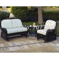 Key West Glider Garden Furniture Rattan Sofa Set