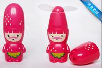 hot-selling summer fruit mini fan cartoon battery small portable fan halter-neck hand fan
