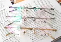 Pure Titanium Eyewear Optical Frame Reading Fashion Glasses Men Prescription Myopia Computer Eyeglasses free shipping 1021