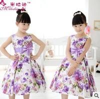 2014 summer girl han edition cotton princess dress fashionable dress is free shipping