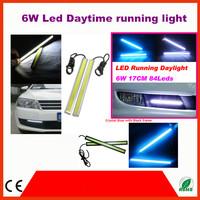 2pcs/pair 6W White/Deep Blue/Crystal Blue COB Car LED Daytime Running Light 17cm LED Car DRL lamp Fog Driving Light Super Bright