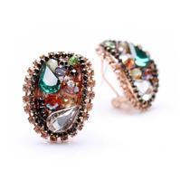 Free Shipping Austrian crystal earrings elegant luxury rhinestone earrings bridal earrings 2014511
