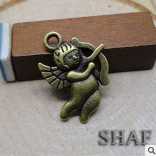 Free shipping floating charms DIY jewelry parts neklacts pendant accessories charm connectors Little angel Cupid