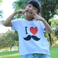 New kids clothes tshirt 2-7 years children clothing short sleeve little baby girl shirt cotton