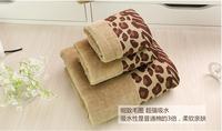 3piece set Leopard Wedding Face Towel 41*66cm Hand towel 28x46cm bath towel 64*127cm bathroom towel sets wedding gifts