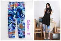 Fashion Leggings milk silk printing color ladies sexy pant -5 colors optional personalized printing Leggings