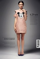 Designer Elegent Lady Casual Dress Sequins Animal image Dresses Party Wear AL-73 Cheap Price High Quality Free shipping
