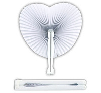 Heart Folding  Paper Fans - Chinese Loot/Party Bag Fillers Wedding/Kids X 100pcs