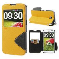 for LG G Pro Lite D686 Roar Korea Fancy Diary View Window Leather Case for LG G Pro Lite D684 Dual D686 Free Shipping