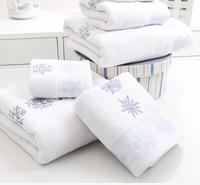 New Snow Flowers Christmas Towel set 3piece set=bath towel 64x127cm +big towel 41x66cm+small towel 28x46cm for X'mas gifts