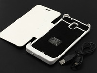 4200mAh Backup Battery Leather Flip Cover with Card Slots & Stand for Samsung Galaxy Note 3