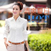 New Arrival Women Shirt 2014 Long Sleeve White Loose Blouse Plus Size Women's Tassel Shirts Korean Style Hot Sale